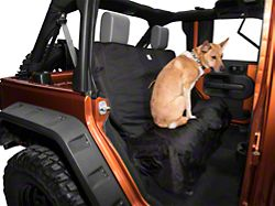 Kurgo Wander Rear Bench Seat Cover; Black (87-20 Jeep Wrangler YJ, TJ, JK & JL)