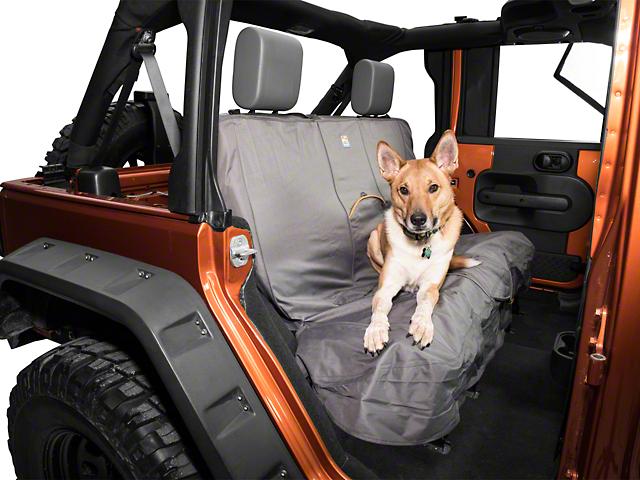 Kurgo Wander Rear Bench Seat Cover - Charcoal (87-20 Jeep Wrangler YJ, TJ, JK & JL)