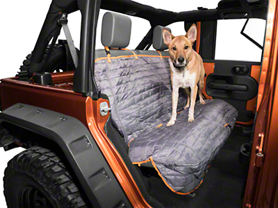 Kurgo Loft Rear Bench Seat Cover - Coastal Blue/Charcoal (87-18 Jeep Wrangler YJ, TJ, JK & JL)