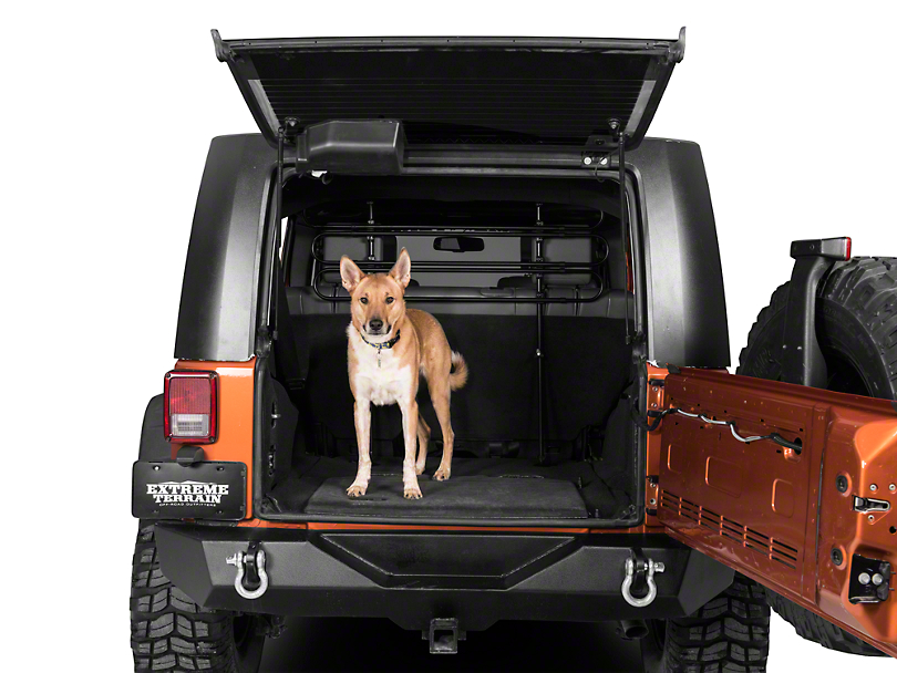 Kurgo Wander Cargo Barrier - Black (87-19 Jeep Wrangler YJ, TJ, JK & JL)