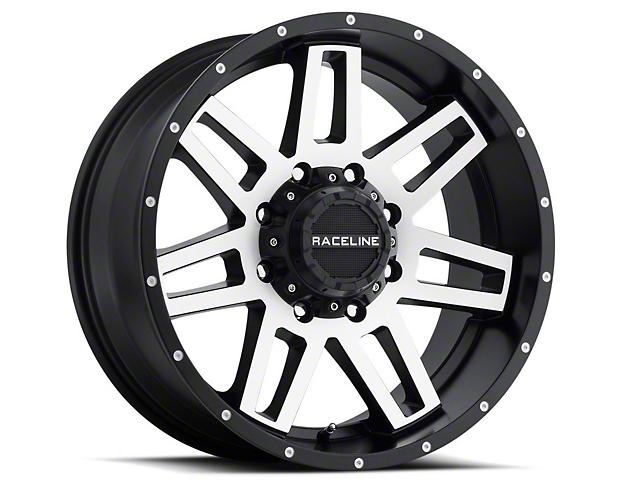 Raceline Injector Black Machined Wheel; 18x9 (97-06 Jeep Wrangler TJ)
