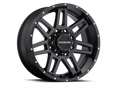 Raceline Injector Black Wheel - 17x9 (07-18 Wrangler JK)