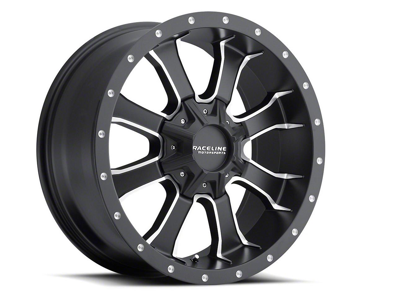 Raceline Mamba Black Milled Wheel - 20x9 (07-18 Wrangler JK)