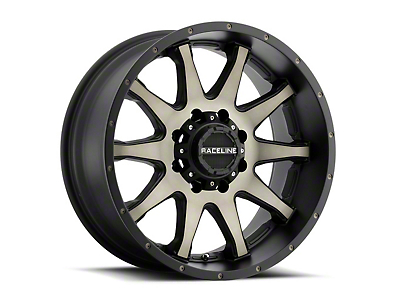 Raceline Shift Black Machined w/ Dark Tint Wheel - 18x9 (87-06 Wrangler YJ & TJ)