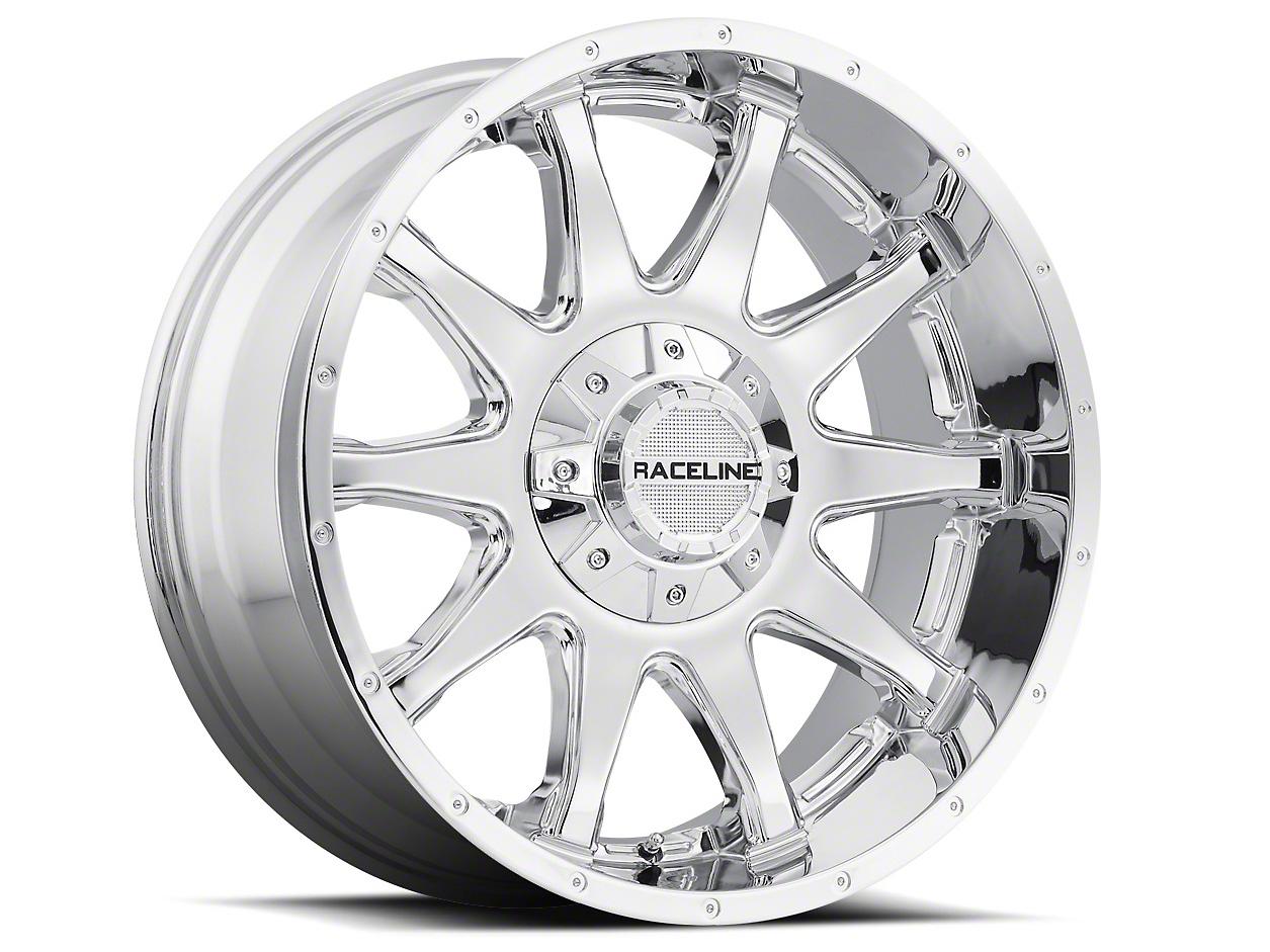Raceline Shift Chrome Wheel - 18x9 (87-06 Wrangler YJ & TJ)