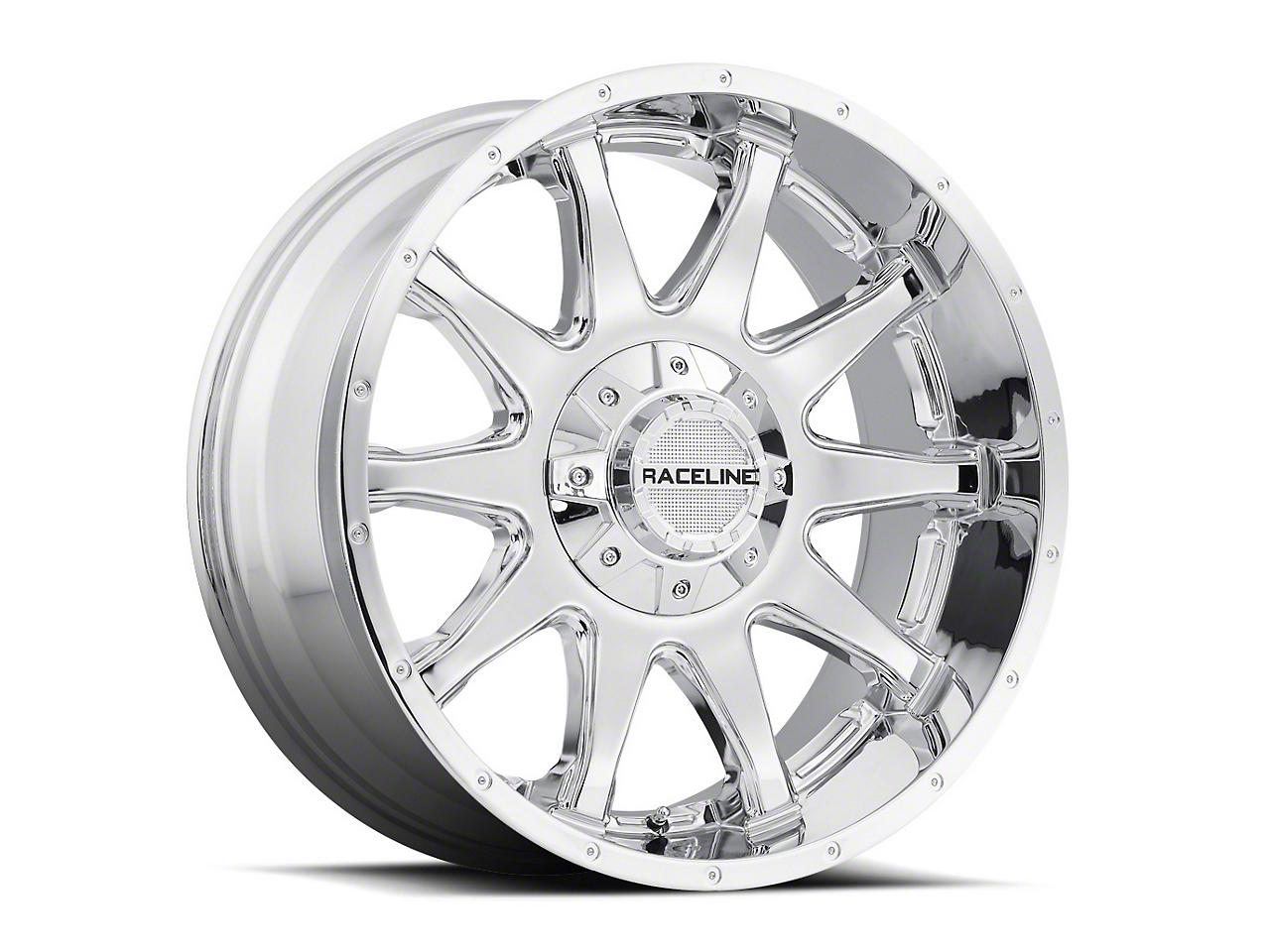 Raceline Shift Chrome Wheel - 20x9 (87-06 Wrangler YJ & TJ)