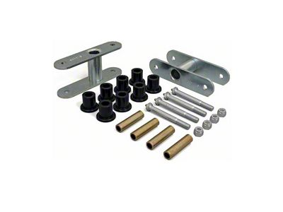Daystar 0 in. Rear Lift Shackles - Greasable (87-95 Jeep Wrangler YJ)