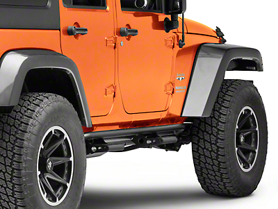 N-Fab Cab Length RKR Side Rails w/ Detachable Steps - Textured Black (07-18 Jeep Wrangler JK 4 Door)
