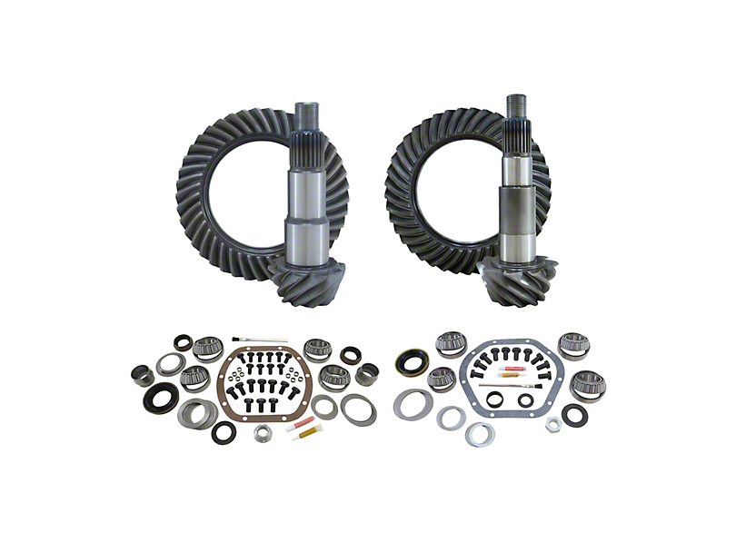 Mammoth Front/Rear Ring and Pinion Gear Kit with Master Overhaul Kit; 4.56 Gear Ratio (07-18 Jeep Wrangler JK)
