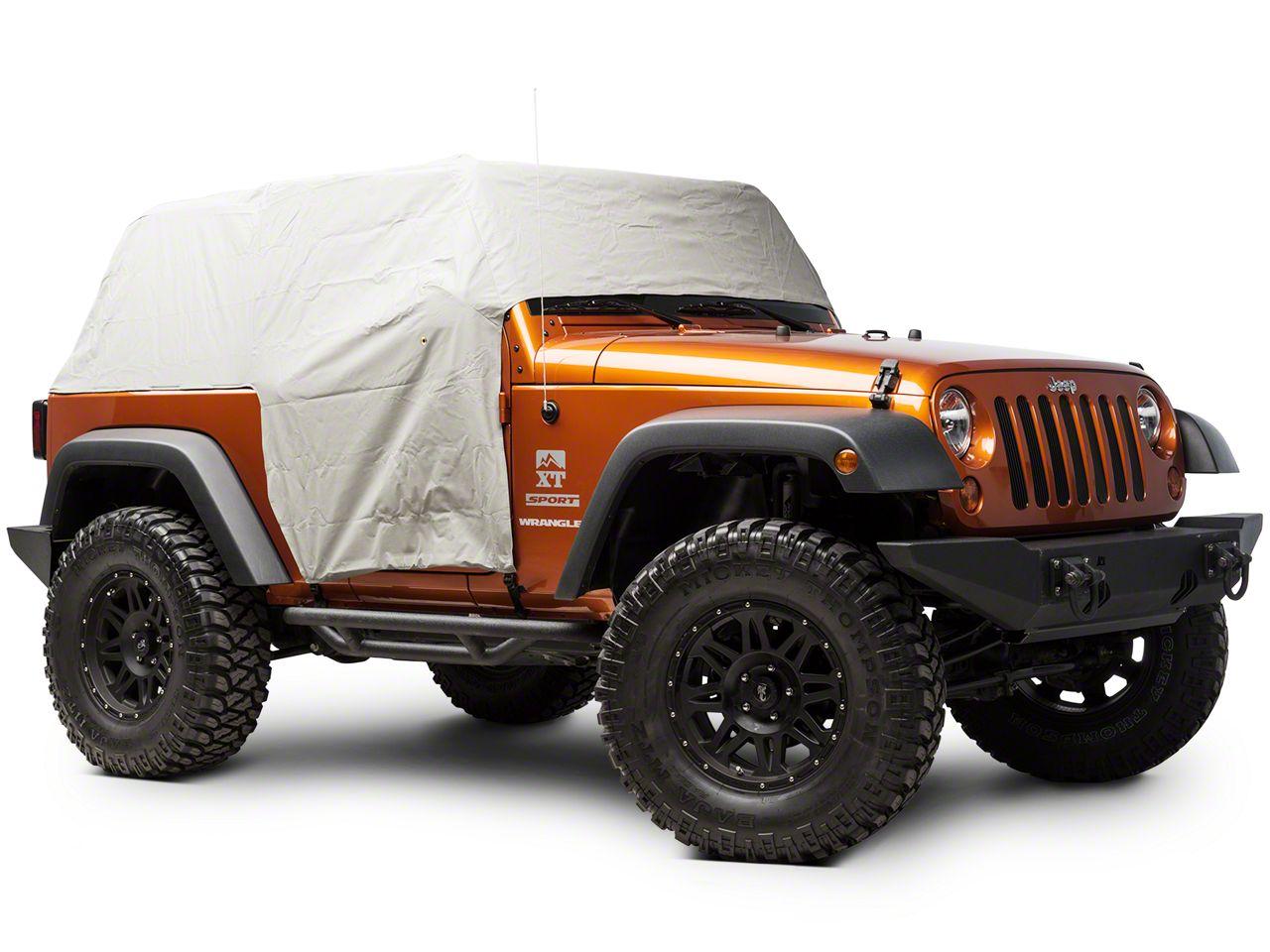 Bestop All-Weather Trail Cover - Gray (07-18 Jeep Wrangler JK 2 Door)