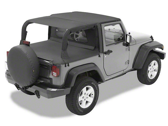 Bestop Safari Style Header Bikini Top   Black Diamond (07 09 Jeep Wrangler  JK 2 Door)