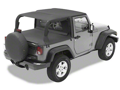 Bestop Safari-Style Header Bikini Top - Black Diamond (07-09 Jeep Wrangler JK 2 Door)
