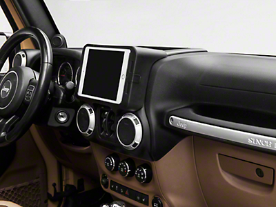 Carrichs iPad Mini 1, 2 & 3 Dash Kit (11-18 Jeep Wrangler JK)