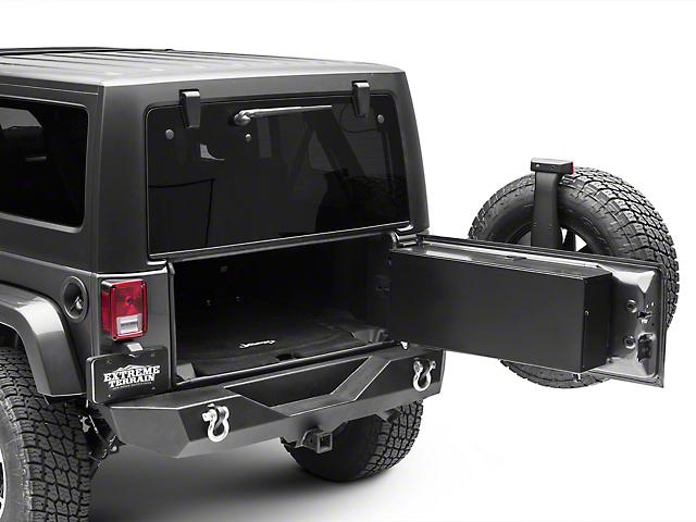b2582fc010 Jeep Wrangler Tailgate Storage Box - Gloss Black (07-18 Jeep Wrangler JK  w/o Rear Side Mounted Subwoofer)