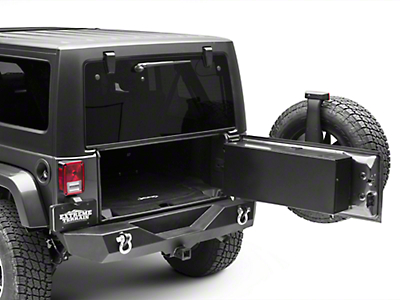Carrichs Tailgate Storage Box - Gloss Black (07-18 Wrangler JK w/o Subwoofer)