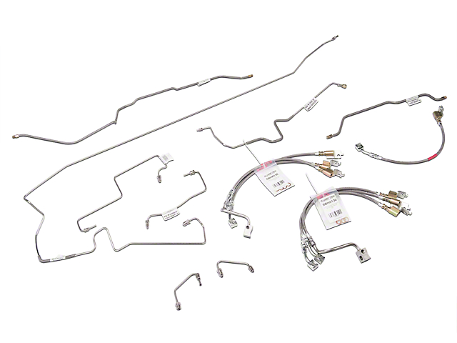 opr jeep wrangler stainless steel brake line kit w/ braided hoses  je1051sb-ss (1997 jeep wrangler tj w/ abs)