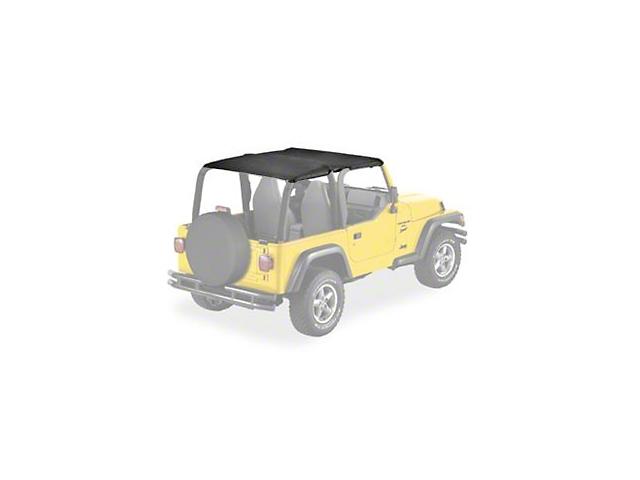 Bestop Safari-Style Header Bikini Top - Black Diamond (03-06 Jeep Wrangler TJ)