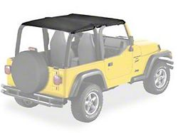 Bestop Safari-Style Header Bikini Top; Black Diamond (03-06 Jeep Wrangler TJ)