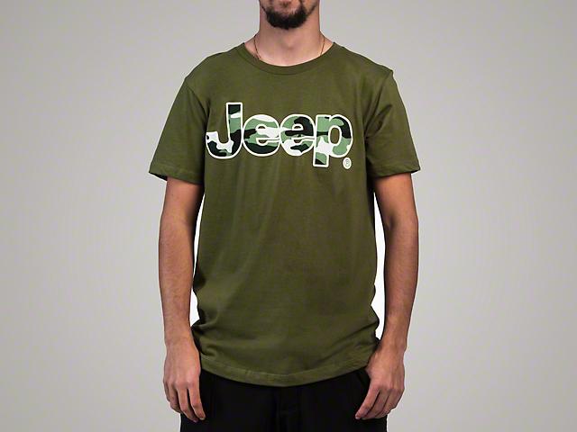 Men's Wordmark Camo Short Sleeve T-Shirt