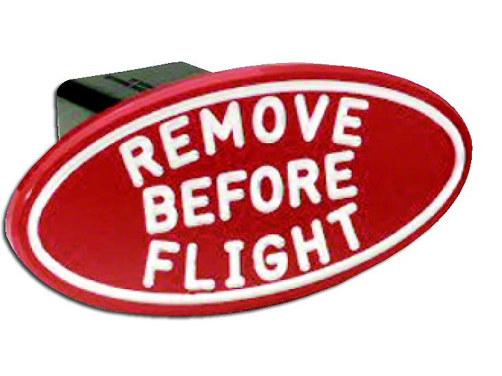 Defenderworx Oval Remove Before Flight Hitch Cover (87-18 Jeep Wrangler YJ, TJ, JK & JL)
