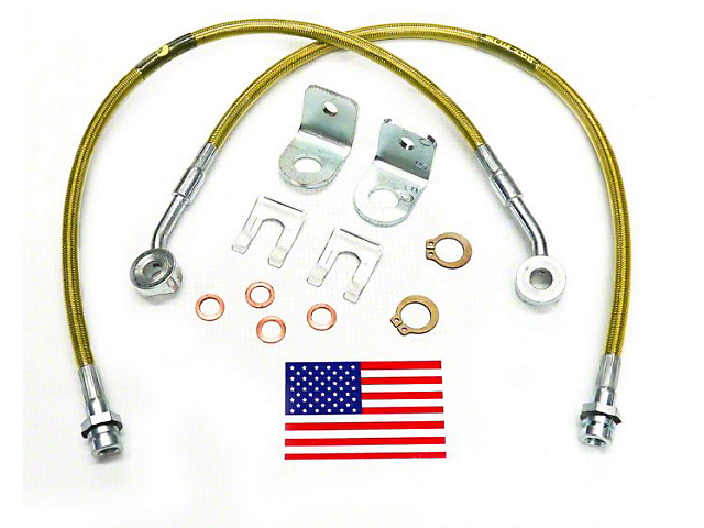 SuperLift Bulletproof Front Brake Lines for 4-6 in. Lift (97-05 Jeep Wrangler TJ)