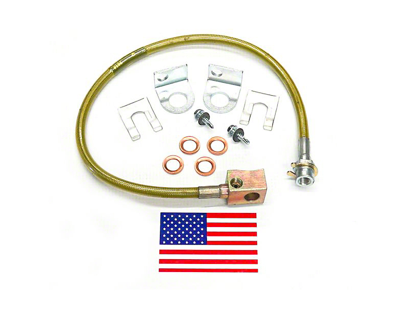 SuperLift Bulletproof Rear Brake Lines for 4-6 in. Lift (97-05 Jeep Wrangler TJ)