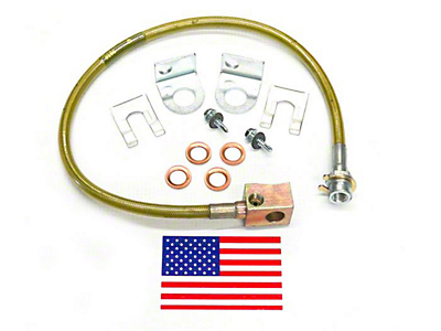 SuperLift Bulletproof Rear Brake Lines for 4-6 in. Lift (97-05 Wrangler TJ)