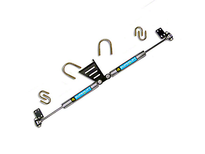 SuperLift Superide SS by Bilsten High Clearance Dual Steering Stabilizer Kit for 1.5+ in. Lift (07-18 Jeep Wrangler JK)