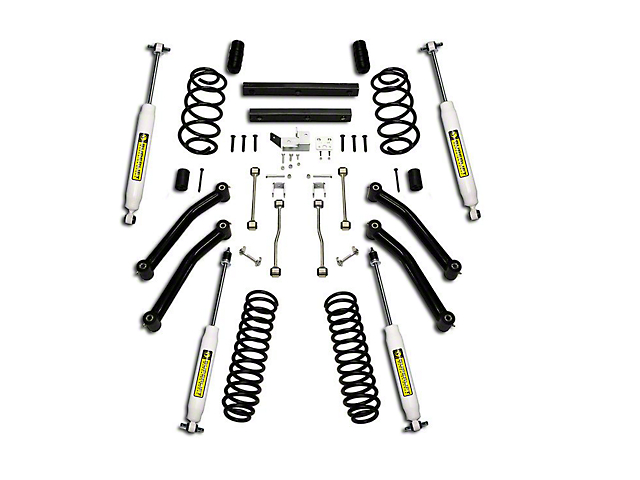 SuperLift 4 in. Suspension Lift Kit w/ Superide Shocks (97-02 Jeep Wrangler TJ)