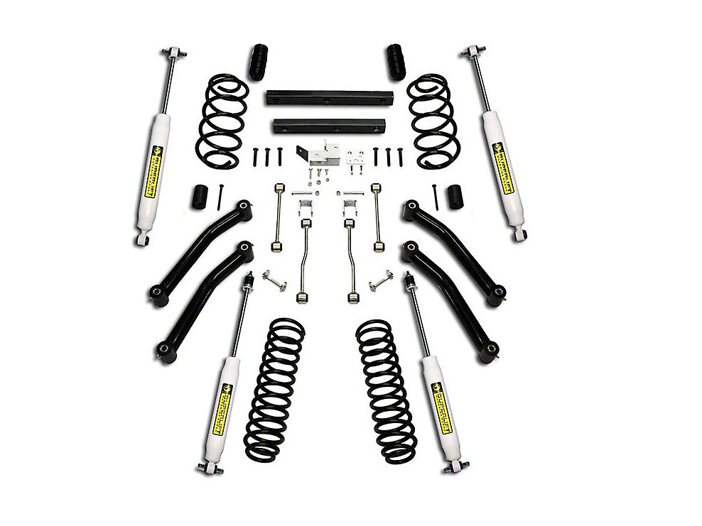 SuperLift 4 in. Suspension Lift Kit w/ Superide Shocks (97-02 Wrangler TJ)