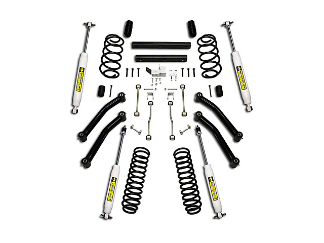 SuperLift 4 in. Suspension Lift Kit w/ Superide Shocks (03-06 Jeep Wrangler TJ)