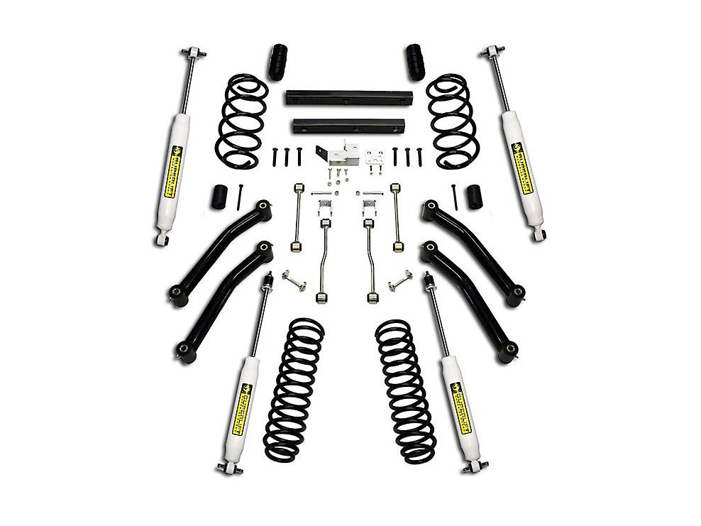 SuperLift 4 in. Suspension Lift Kit w/ Superide Shocks (03-06 Wrangler TJ)