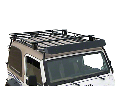 Garvin Expedition Rack Crossbar Kit for 4 in. High Roof Rack (87-18 Wrangler YJ, TJ, JK & JL)