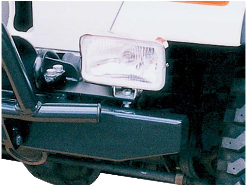 Garvin Front Bumper Light Mounts (87-20 Jeep Wrangler YJ, TJ, JK & JL)