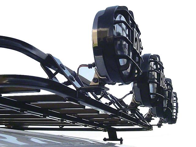 Garvin Front Light Mount Bracket for Sport Series Roof Rack (87-20 Jeep Wrangler YJ, TJ, JK & JL)