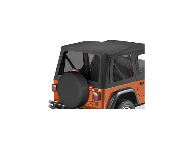 Bestop Tinted Window Kit for Replace-a-Top; Black Denim (97-02 Jeep Wrangler TJ)
