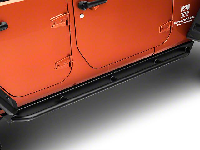 Garvin Rock Rail Steps (07-18 Jeep Wrangler JK 4 Door)