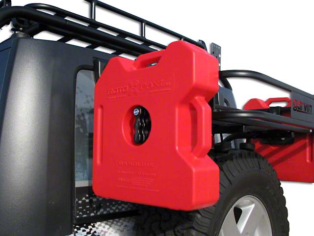 Garvin RotoPax Can Holder for Trail Rack (07-18 Jeep Wrangler JK)