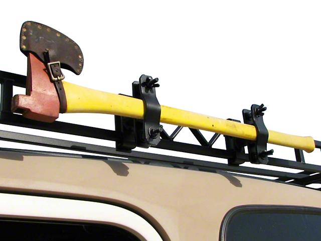 Garvin Single Axe or Shovel Mount for 6 in. High Roof Rack (87-20 Jeep Wrangler YJ, TJ, JK & JL)