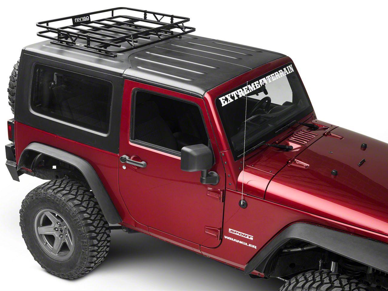Garvin Jeep Wrangler Sport Series Track Rack 44012 07 18 Jeep Wrangler Jk 2 Door