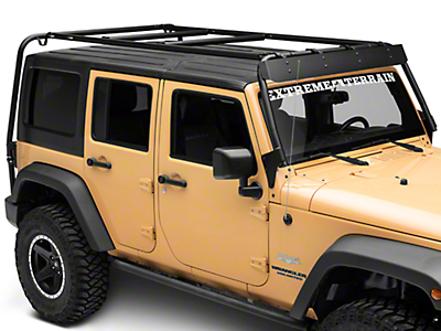 Garvin Wind Deflector for Adventure Rack (07-18 Wrangler JK)