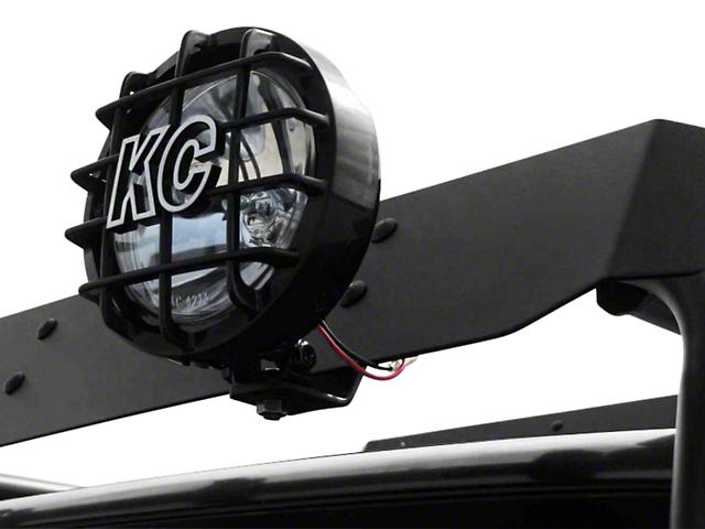 Garvin Wind Deflector Light Mount for Adventure or Expedition Roof Racks (87-20 Jeep Wrangler YJ, TJ, JK & JL)