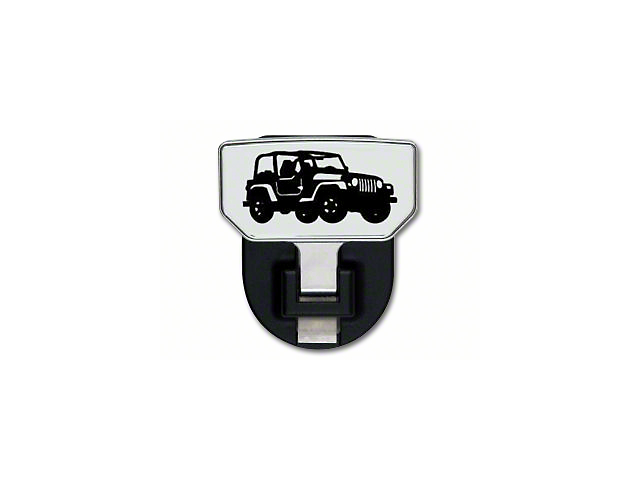 Carr HD Hitch Step w/ Jeep Logo (87-19 Jeep Wrangler YJ, TJ, JK & JL)