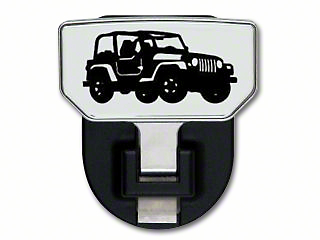 Carr HD Hitch Step w/ Jeep Logo (87-18 Jeep Wrangler YJ, TJ, JK & JL)