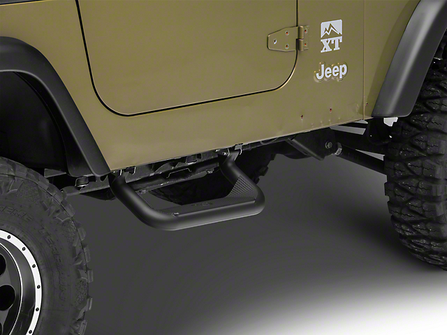 Carr Super Hoop Steps - Black (97-06 Jeep Wrangler TJ)