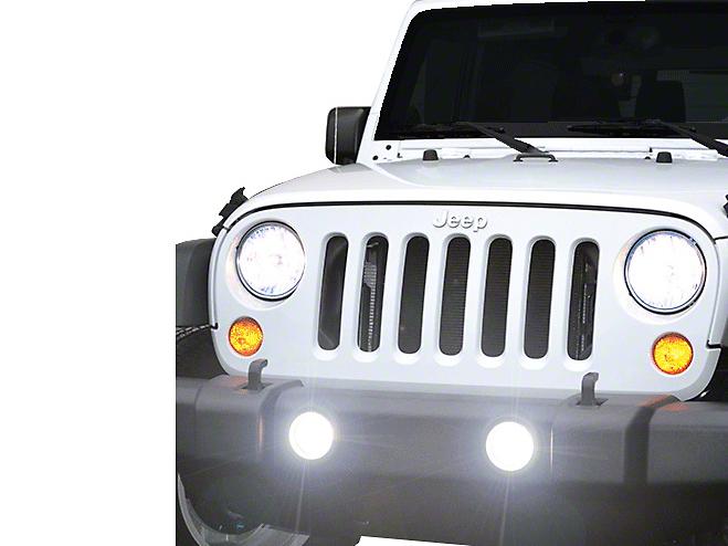 PIAA LP530 3.5 in. LED Fog Lights (10-18 Wrangler JK)