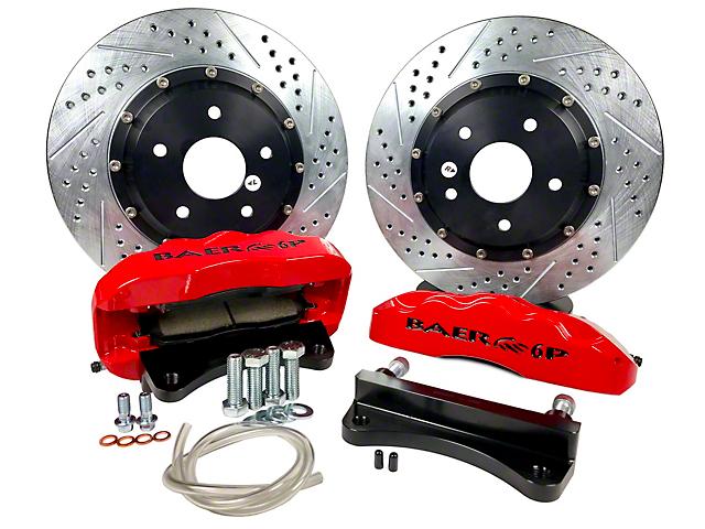 Baer Pro Plus Front Big Brake Kit; Red Calipers (07-18 Jeep Wrangler JK)