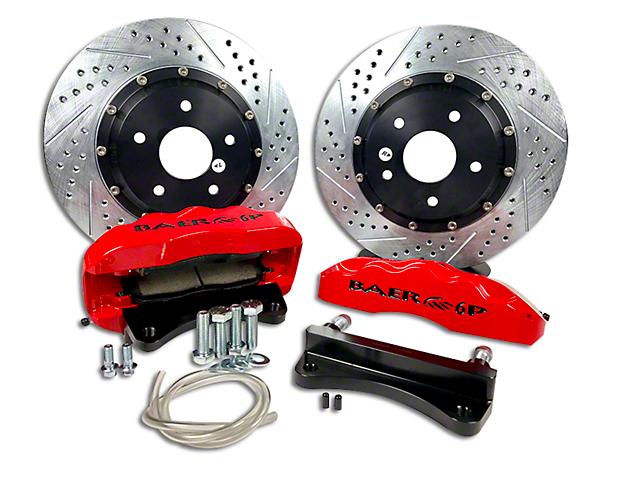 Baer Pro Plus Rear Big Brake Kit; Red Calipers (07-18 Jeep Wrangler JK)