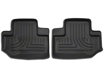 Husky X-Act Contour 2nd Seat Floor Liners - Black (11-18 Jeep Wrangler JK 2 Door)