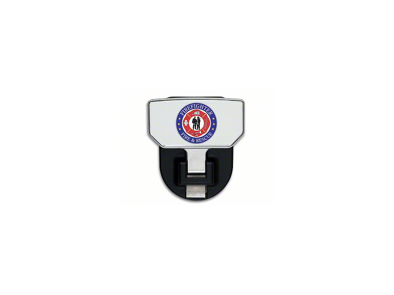 Carr HD Hitch Step w/ Fire & Rescue Logo (Universal Fitment)
